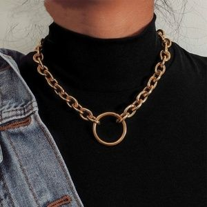 Jewelry - Gold Chunky Chain Choker Necklace